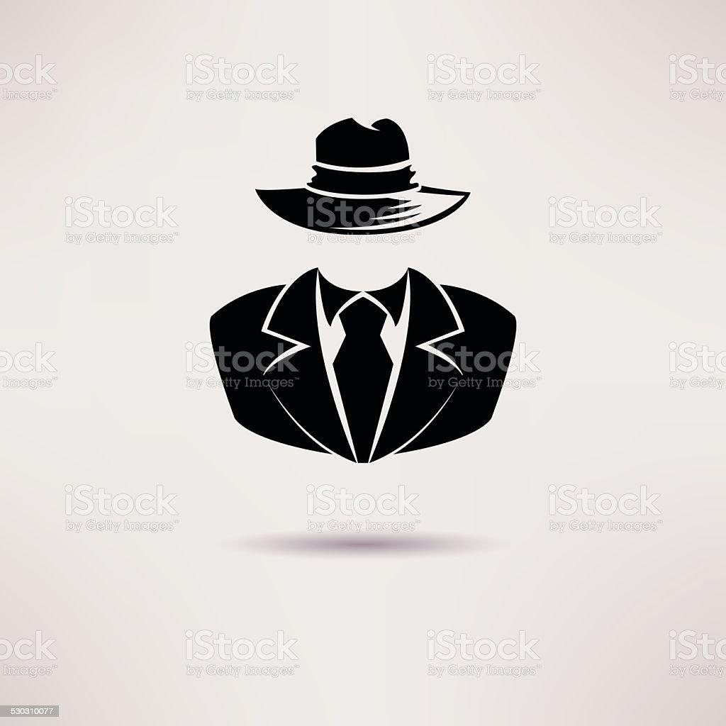Icon spy, secret agent, the mafia Vector icon. vector art illustration