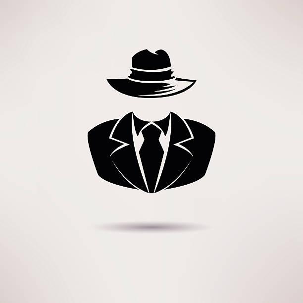 icon spy, secret agent, the mafia vector icon. - gangster stock illustrations, clip art, cartoons, & icons