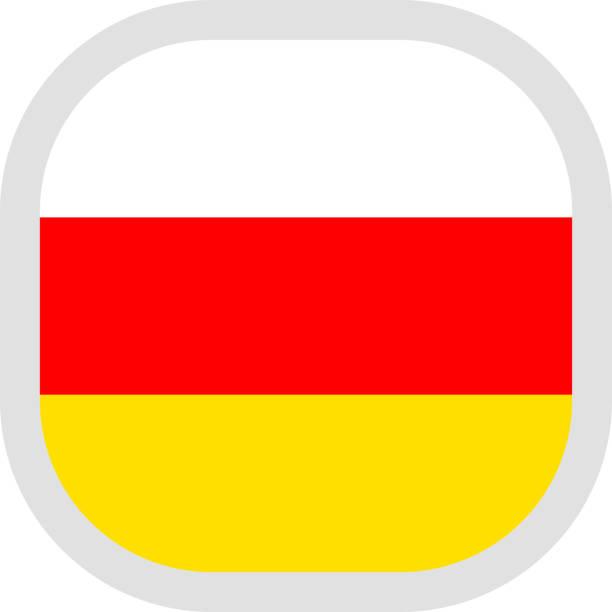 icon quadratische form mit fahne auf weißem hintergrund - alanya stock-grafiken, -clipart, -cartoons und -symbole