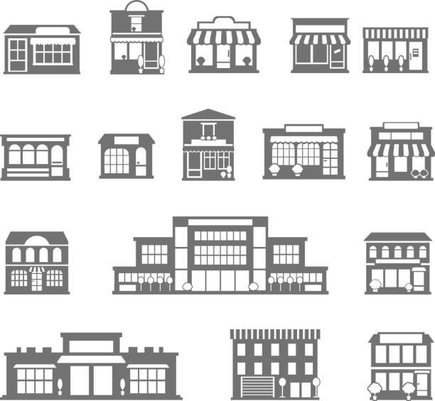 stockillustraties, clipart, cartoons en iconen met pictogramarchief - verkooppunt
