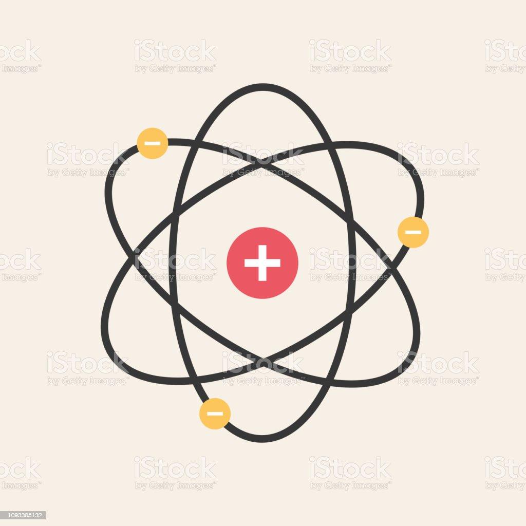 Ilustración De Estructura Del Icono Del Núcleo Del átomo