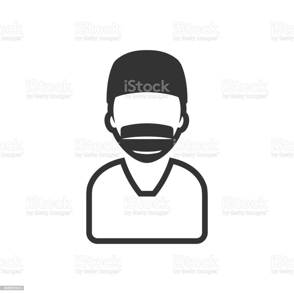 BW icon - Surgeon vector art illustration