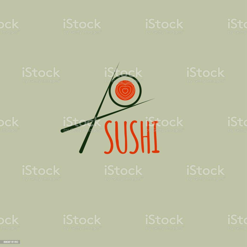 Sushi de icono - ilustración de arte vectorial