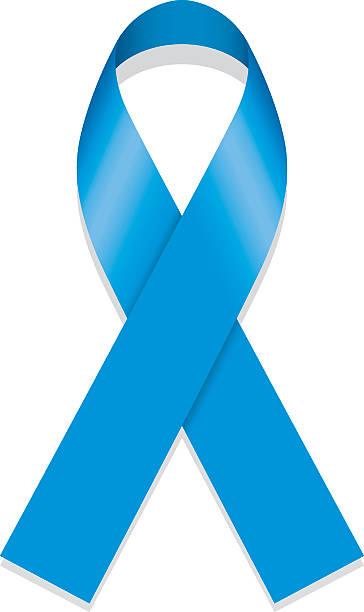 icon symbol of struggle and awareness, blue ribbon - child abuse stock illustrations