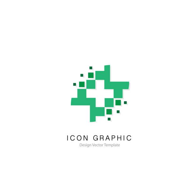 ilustraciones, imágenes clip art, dibujos animados e iconos de stock de elemento de diseño de plantilla de icono símbolo signo gráfico vectorial - logos de médico