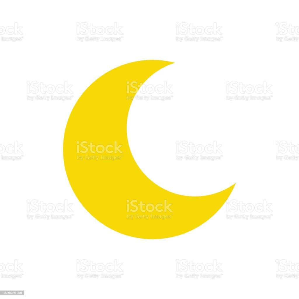 月のアイコン。ベクトル イラスト。 ベクターアートイラスト