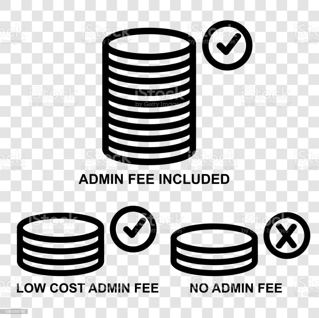Icon Three Category Of Admin Fee At Transparent Effect