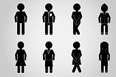 icon toilet wc men and women design.vector and illustration