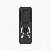 Icon touch remote control. Vector on transparent background.