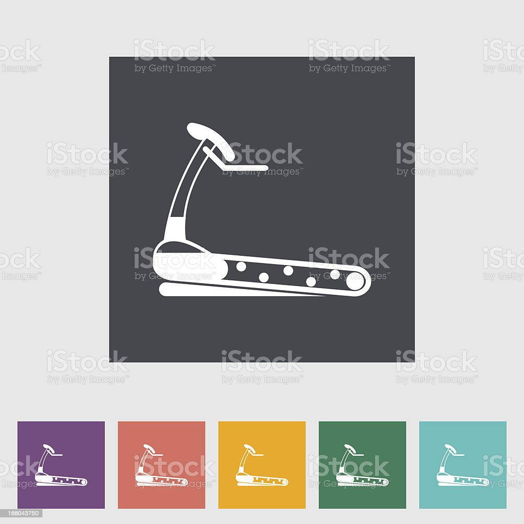 Icon trainer treadmill. vector art illustration