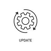 istock Icon update system. Weheel arrow. Process updating. 1145802157