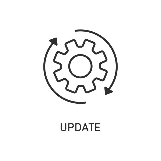 Icon update system. Weheel arrow. Process updating. Icon update system. Weheel arrow. Process updating. EPS 10 update communication stock illustrations