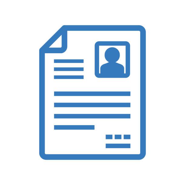 CV Icon Resune business cv templates stock illustrations