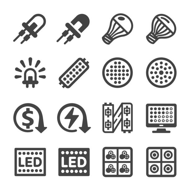 ilustrações de stock, clip art, desenhos animados e ícones de led icon - led painel