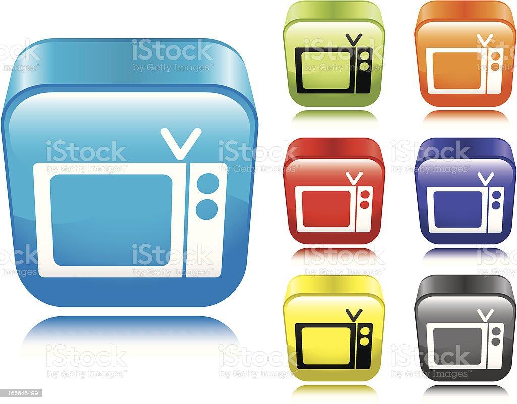TV Icon vector art illustration