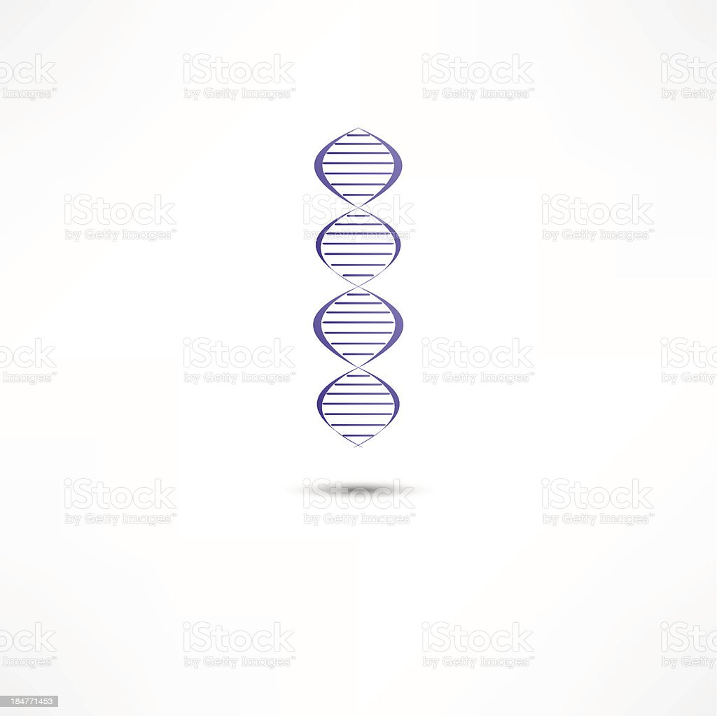 DNA Icon royalty-free stock vector art