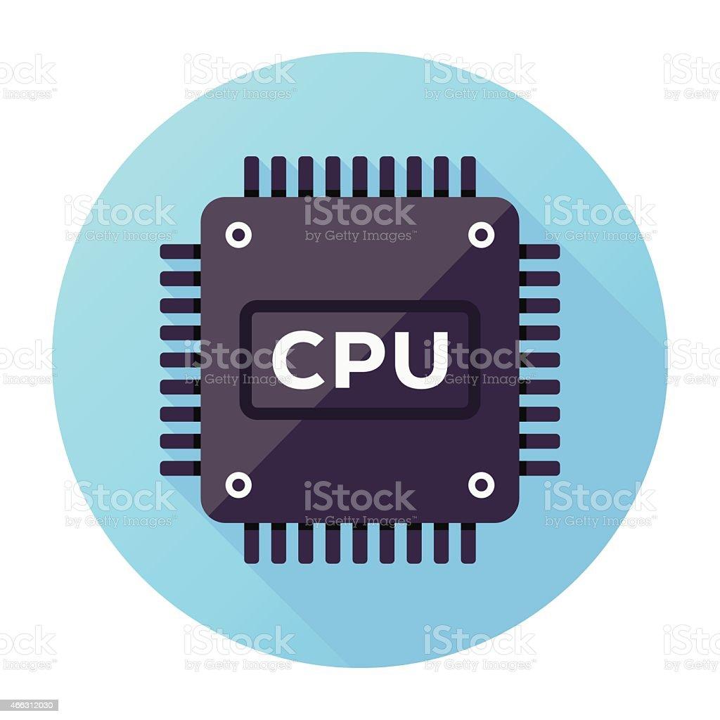 CPU Icon vector art illustration