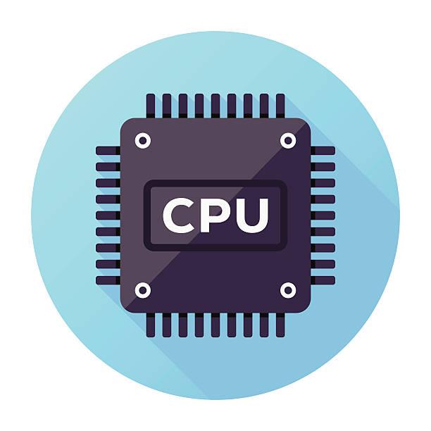 cpu icon - cpu stock illustrations