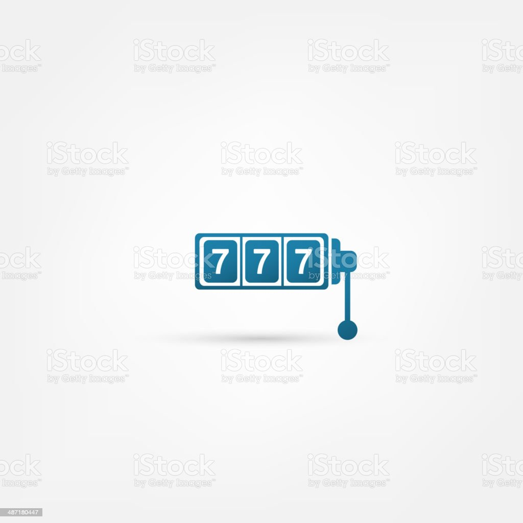 777 icon vector art illustration
