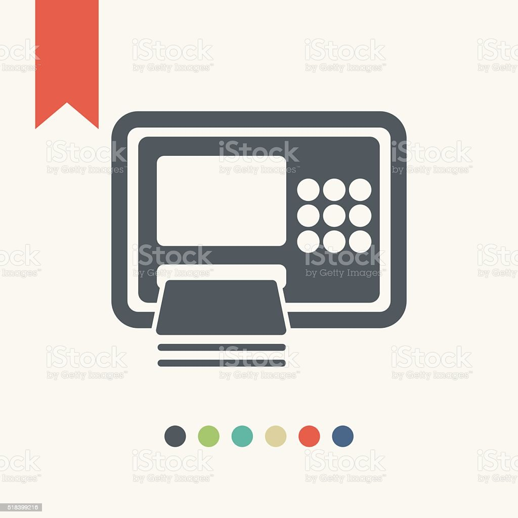 ATM icon vector art illustration