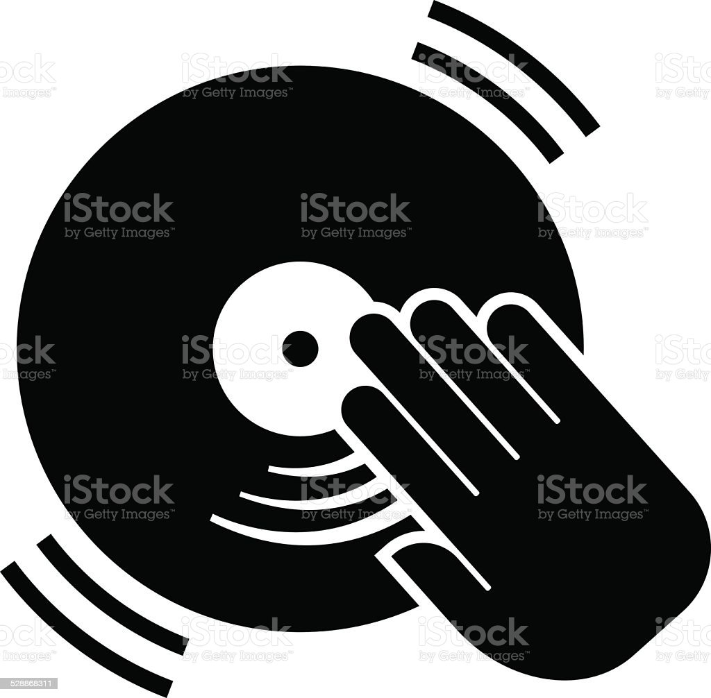 DJ icon vector art illustration