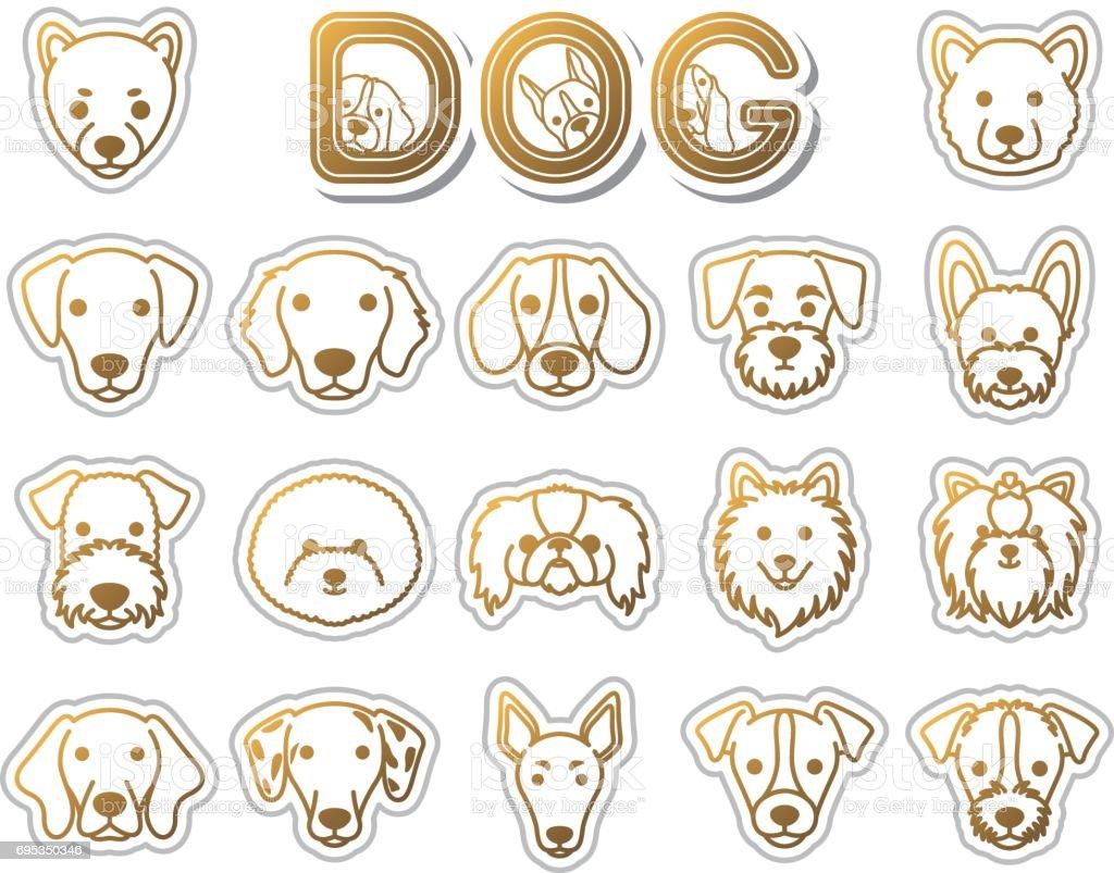 DOG / icon – artystyczna grafika wektorowa