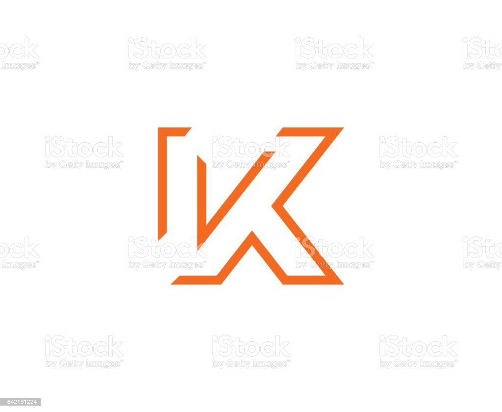 K icon This illustration/vector you can use for any purpose related to your business. Abstract stock vector