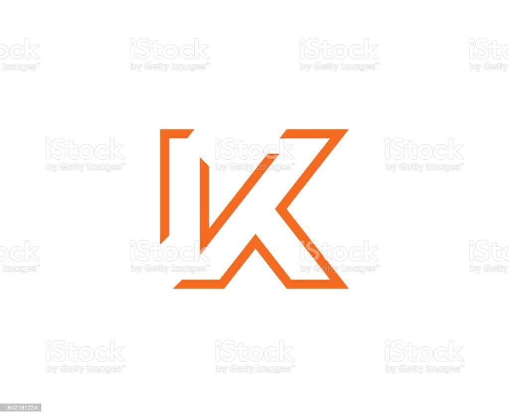 K icon vector art illustration