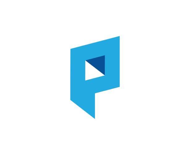 stockillustraties, clipart, cartoons en iconen met p-pictogram - letter p