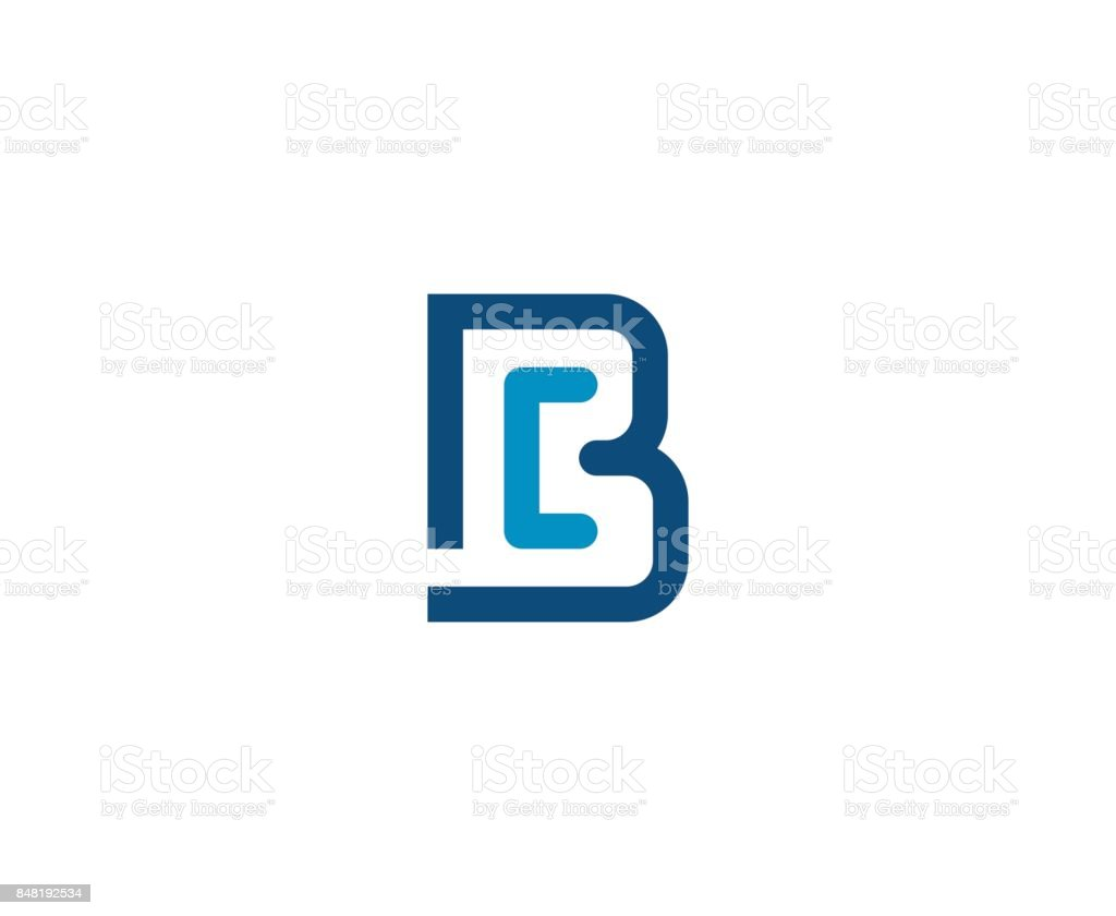 B simgesini vektör sanat illüstrasyonu