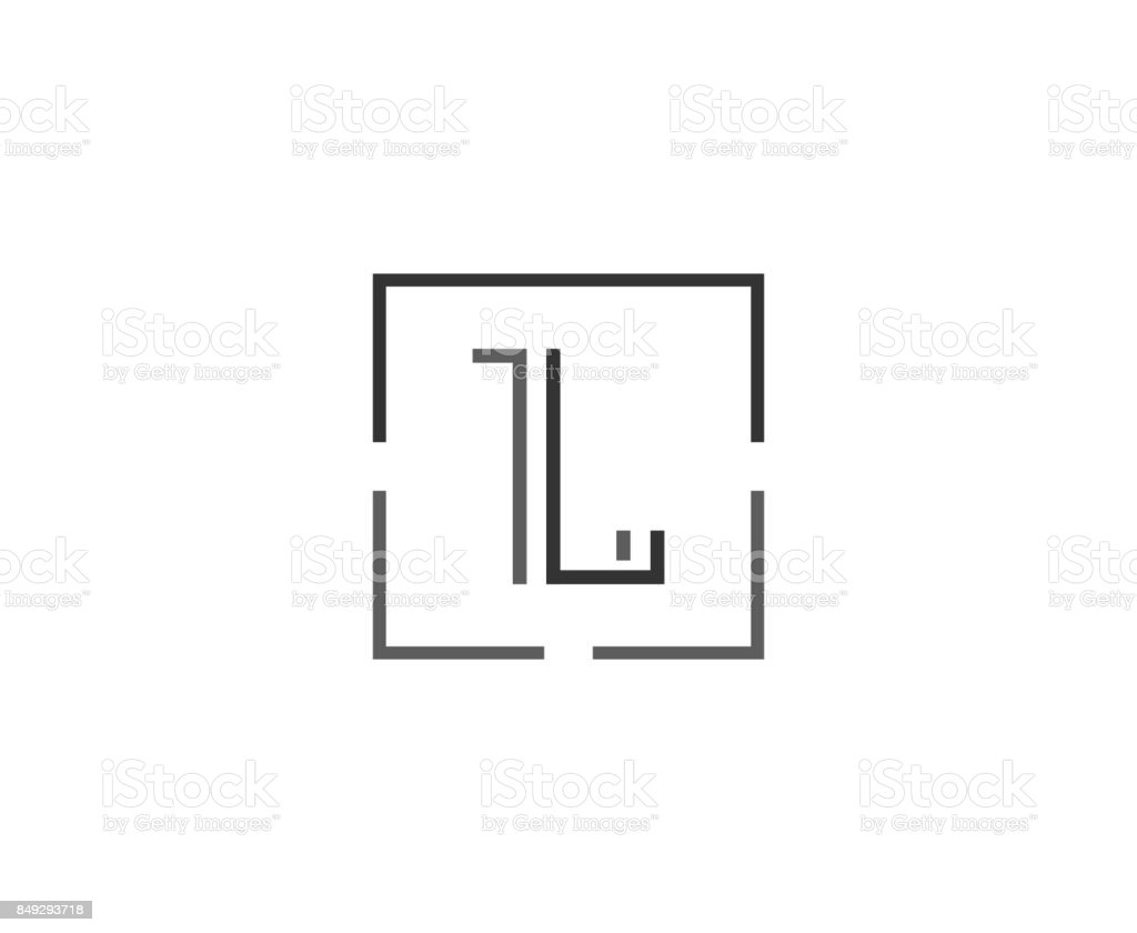 L icon vector art illustration