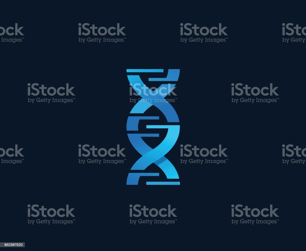 DNA icon vector art illustration