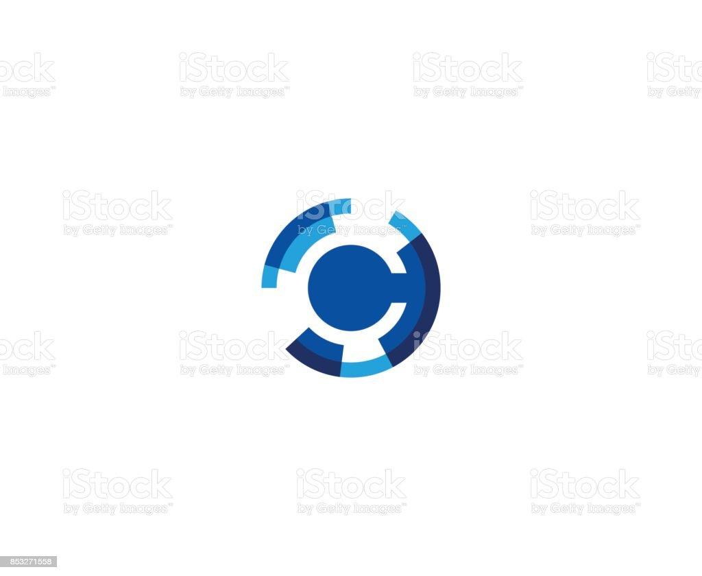 C icon vector art illustration