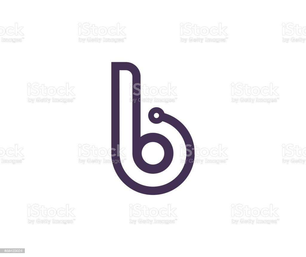 B-Symbol – Vektorgrafik