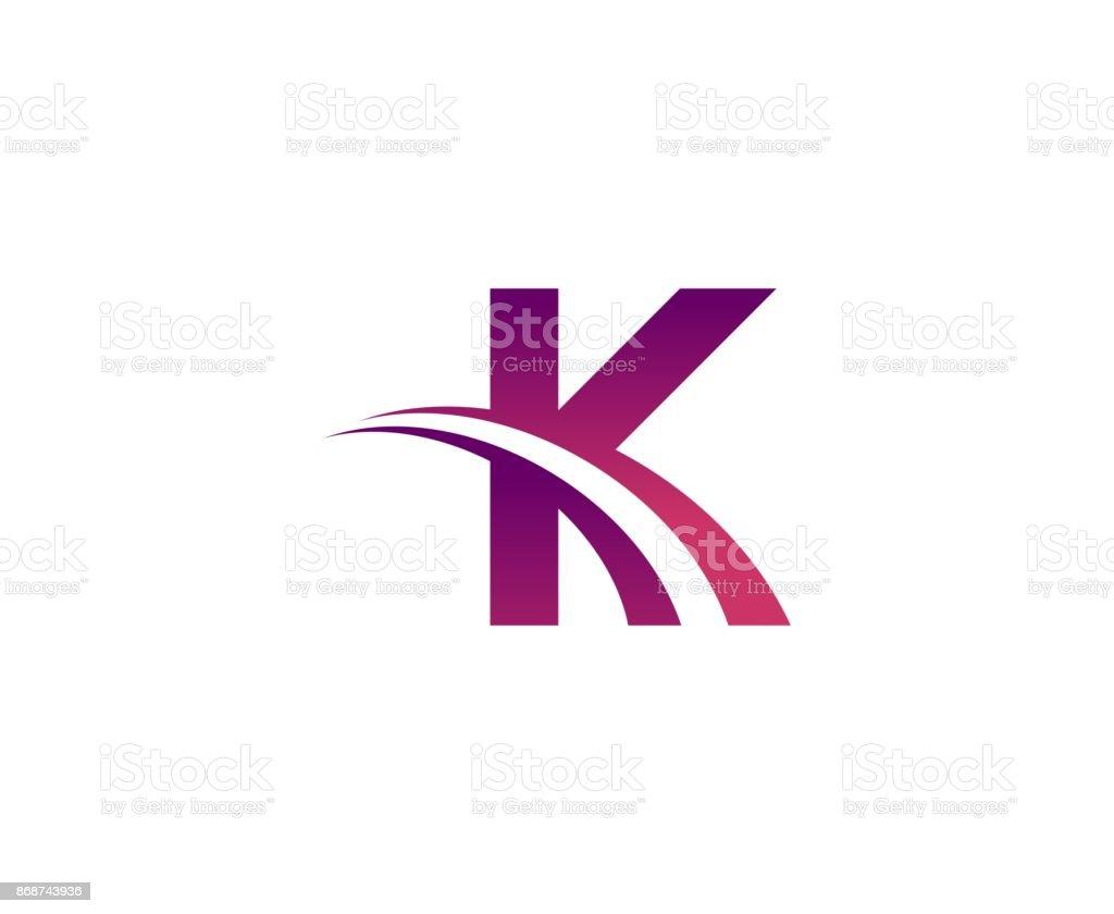 K 圖示 - 免版稅乾淨圖庫向量圖形