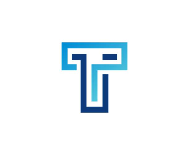 T icon This illustration/vector you can use for any purpose related to your business. letter t stock illustrations