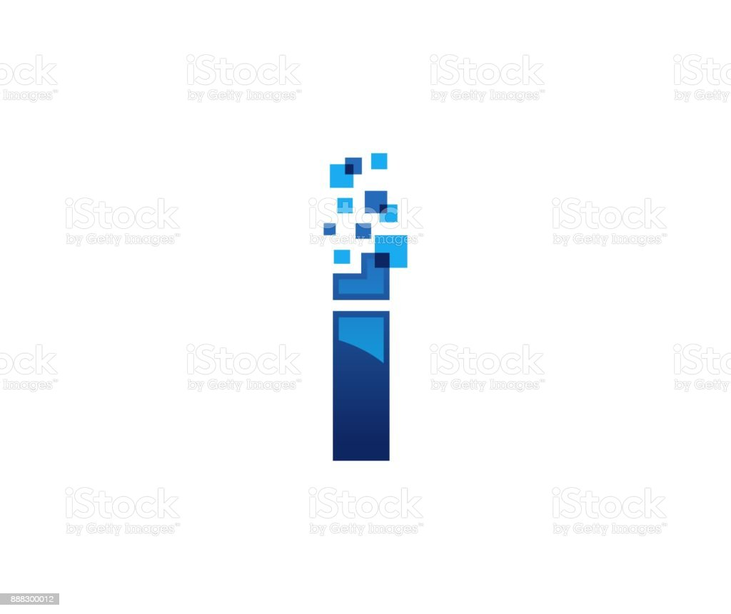 I icon vector art illustration