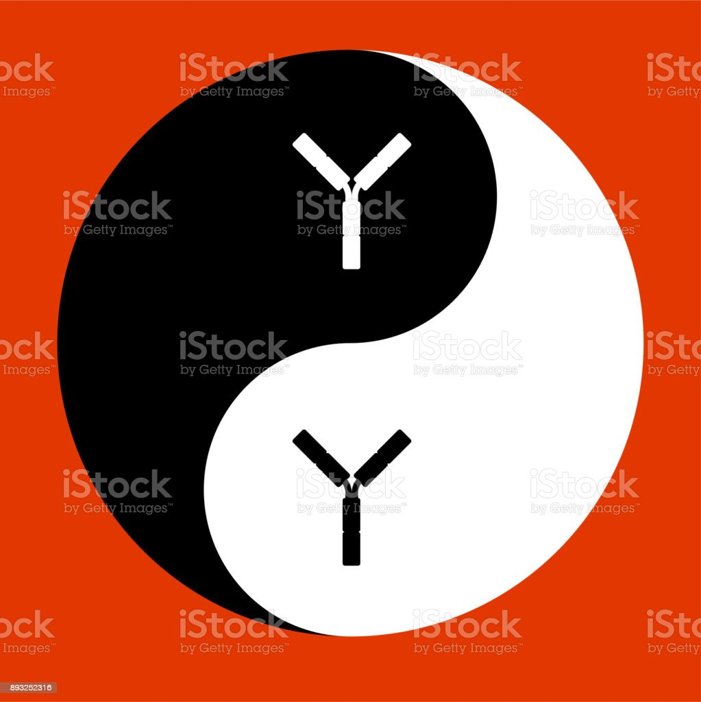 YIN YANG icon vector art illustration