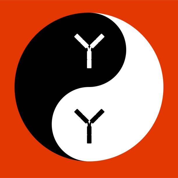 YIN YANG icon vector art illustration