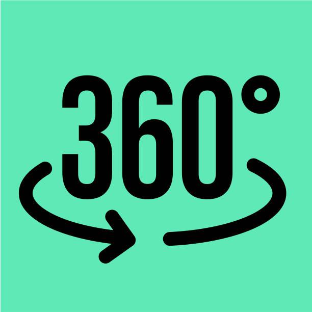 ilustraciones, imágenes clip art, dibujos animados e iconos de stock de icono de vr 360 - 360