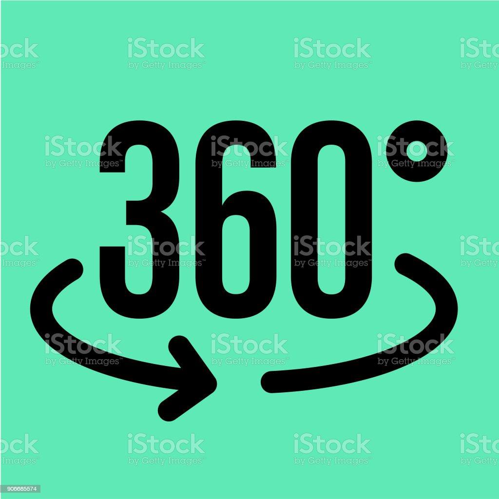 VR 360 icon vector art illustration