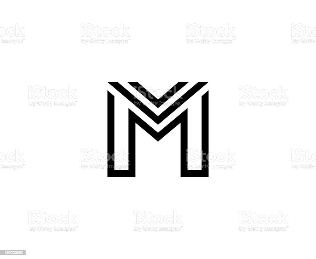 M icon m icon - stockowe grafiki wektorowe i więcej obrazów abstrakcja royalty-free
