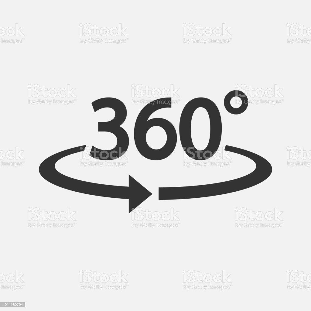 Icono de 360. Ilustración de vector. - ilustración de arte vectorial