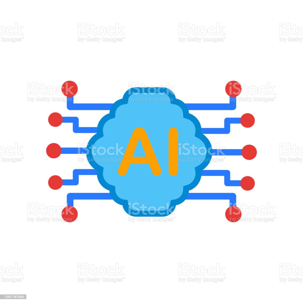 Ai Icon Vector Sign And Symbol Isolated On White Background Stock Circuit Board Free Graphics Download Royalty
