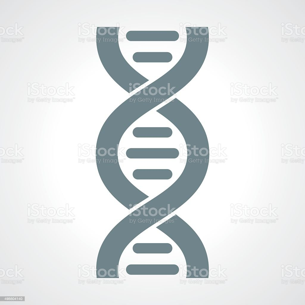 DNA icon vector vector art illustration