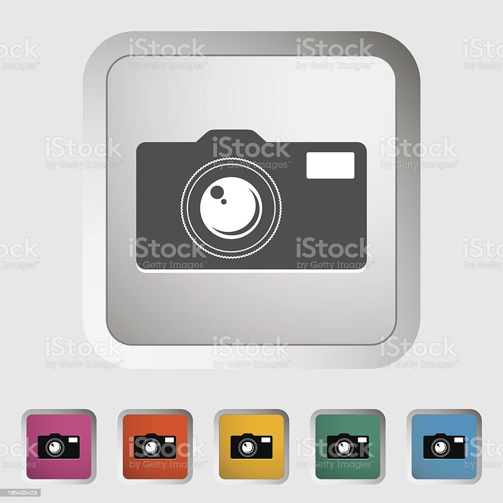 Icon vintage camera. royalty-free stock vector art