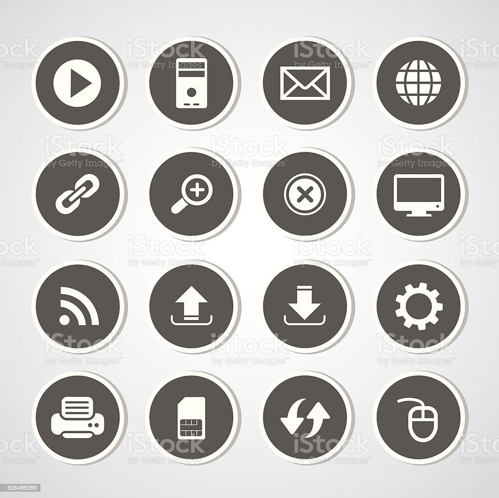 icon web vector art illustration