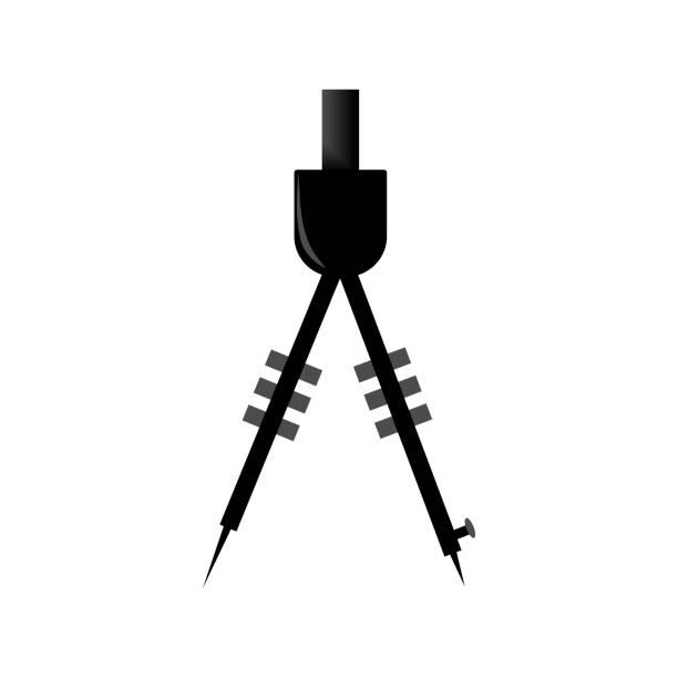 symbol mit einem kompass. - bleistifthalter stock-grafiken, -clipart, -cartoons und -symbole
