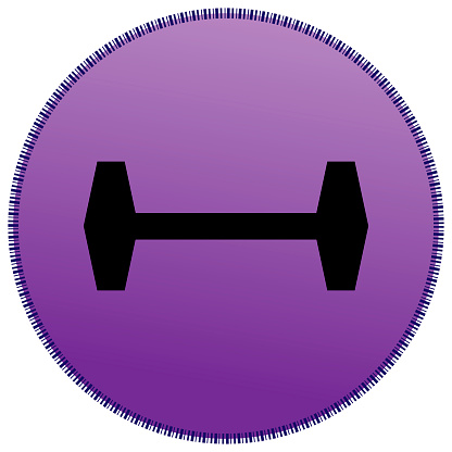 Icon with a dumbbell.