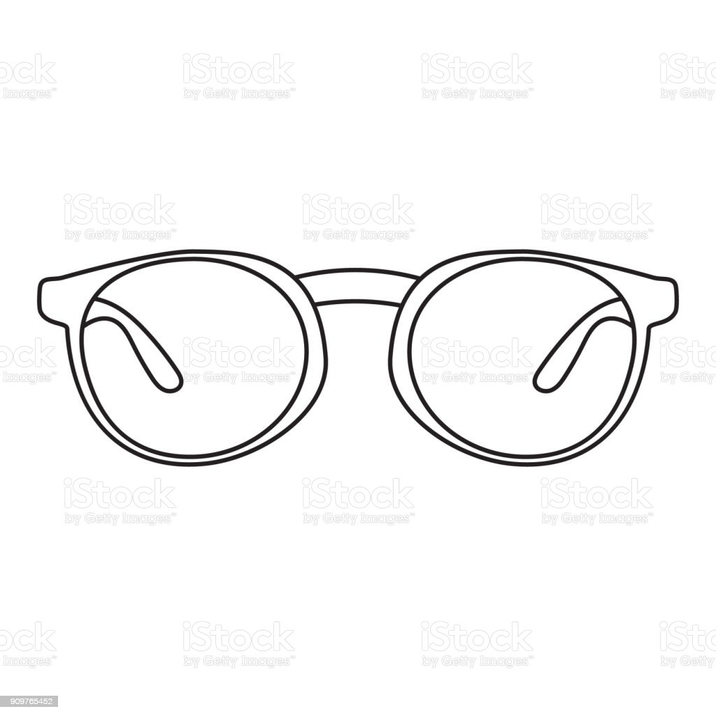 Icon with a picture of a frame for glasses. A simple drawing without pouring. Vector illustration vector art illustration
